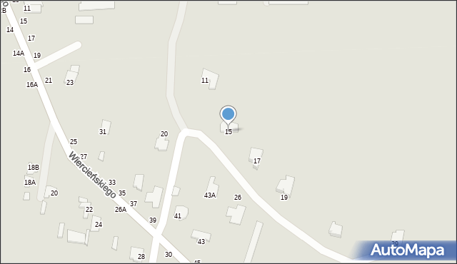 Chełm, Małachowskiego Stanisława, 15, mapa Chełma