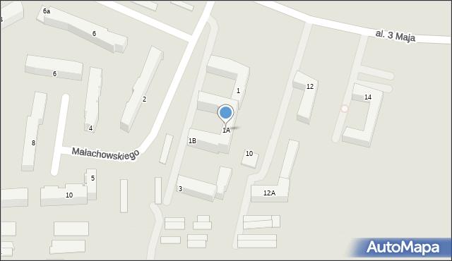 Chełm, Małachowskiego Stanisława, 1A, mapa Chełma