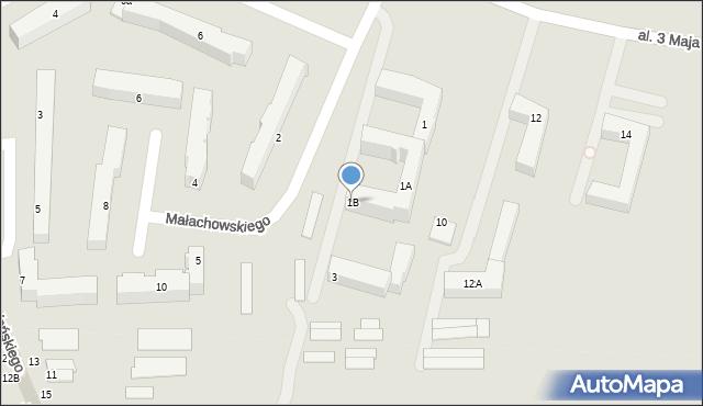 Chełm, Małachowskiego Stanisława, 1B, mapa Chełma