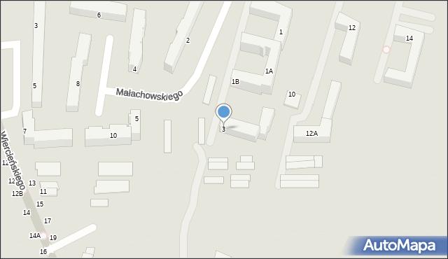 Chełm, Małachowskiego Stanisława, 3, mapa Chełma