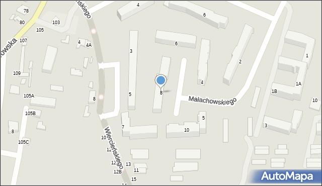Chełm, Małachowskiego Stanisława, 8, mapa Chełma