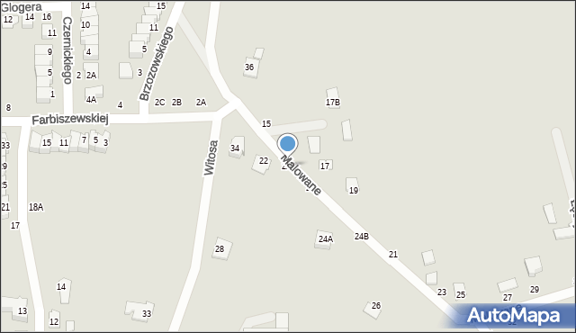 Chełm, Malowane, 22A, mapa Chełma