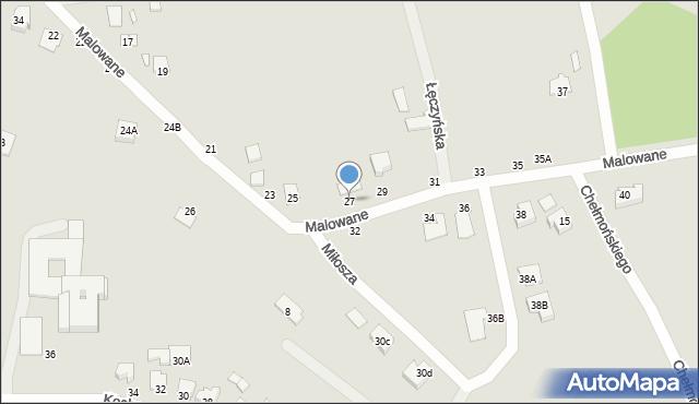 Chełm, Malowane, 27, mapa Chełma