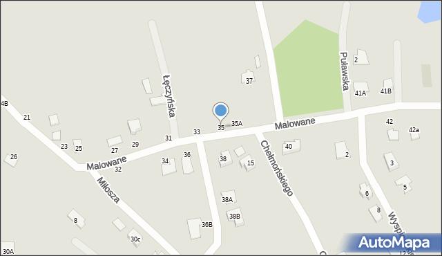 Chełm, Malowane, 35, mapa Chełma