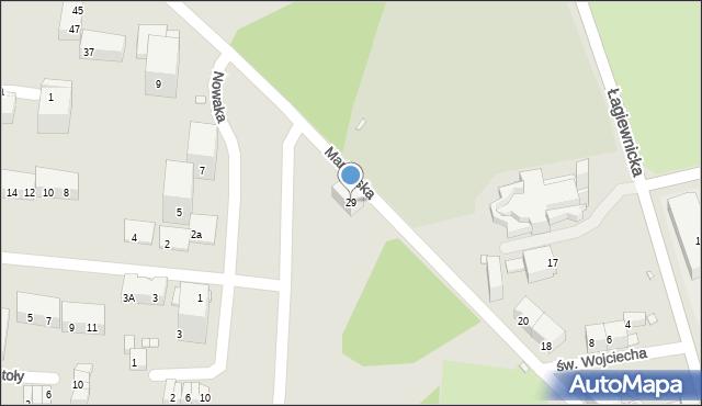 Chorzów, Mariańska, 29, mapa Chorzów