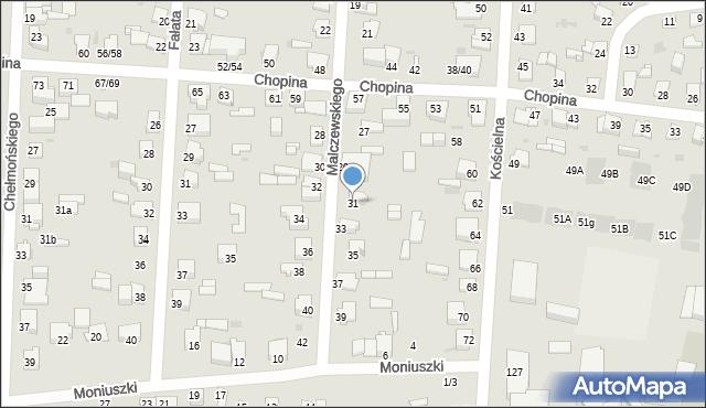 Częstochowa, Malczewskiego Jacka, 31, mapa Częstochowy