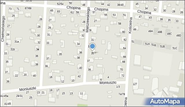 Częstochowa, Malczewskiego Jacka, 35, mapa Częstochowy