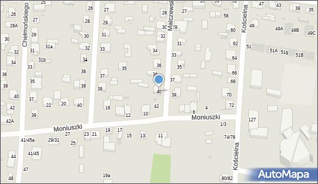 Częstochowa, Malczewskiego Jacka, 40, mapa Częstochowy