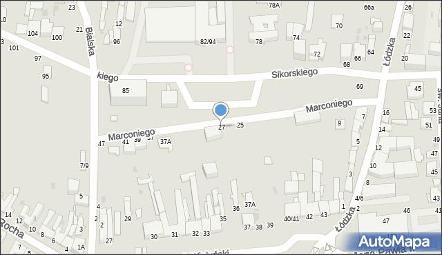 Częstochowa, Marconiego Guglielmo, 27, mapa Częstochowy