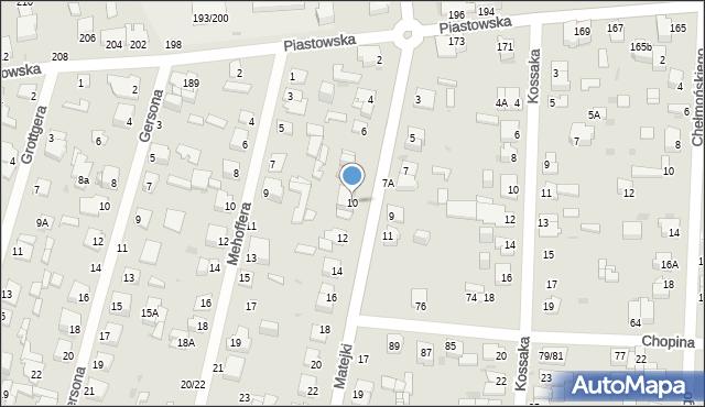 Częstochowa, Matejki Jana, 10, mapa Częstochowy