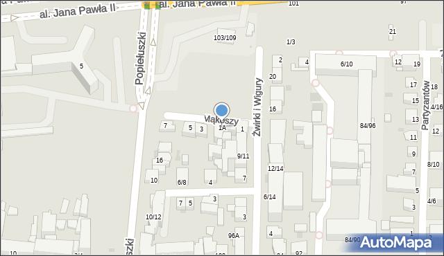 Częstochowa, Mąkoszy Edwarda, 1A, mapa Częstochowy