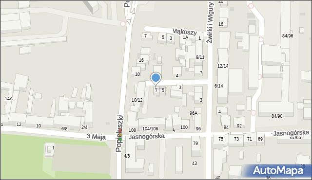 Częstochowa, Małachowskiego, 7, mapa Częstochowy