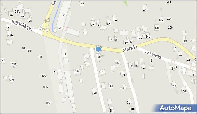 Dobczyce, Marwin, 1a, mapa Dobczyce