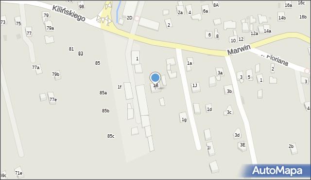 Dobczyce, Marwin, 1c, mapa Dobczyce