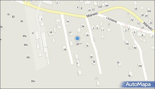 Dobczyce, Marwin, 1d, mapa Dobczyce