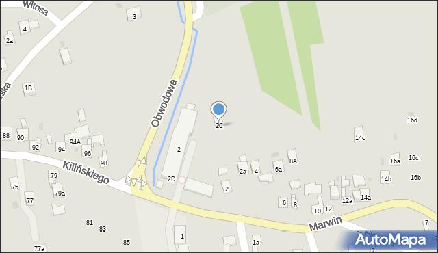 Dobczyce, Marwin, 2C, mapa Dobczyce