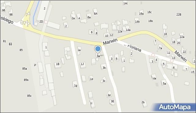 Dobczyce, Marwin, 3a, mapa Dobczyce