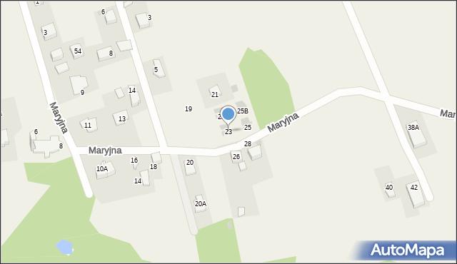 Gaj, Maryjna, 23, mapa Gaj