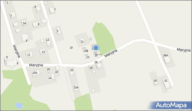 Gaj, Maryjna, 25, mapa Gaj
