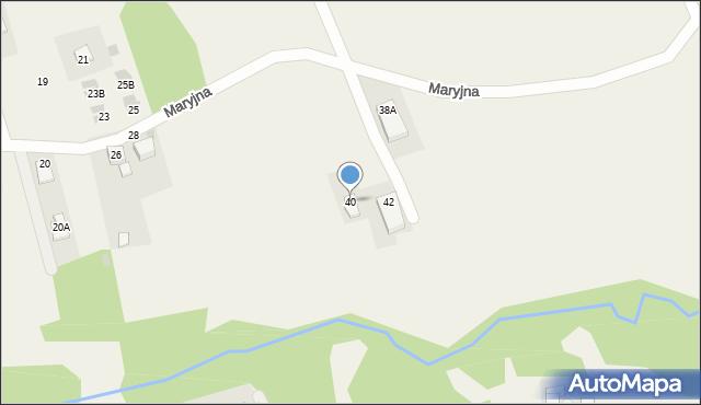 Gaj, Maryjna, 40, mapa Gaj