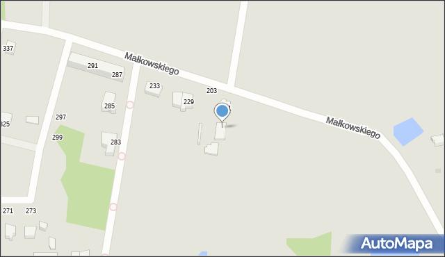 Gdynia, Małkowskiego Kazimierza, 203, mapa Gdyni