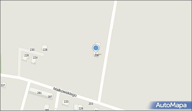 Gdynia, Małkowskiego Kazimierza, 206, mapa Gdyni