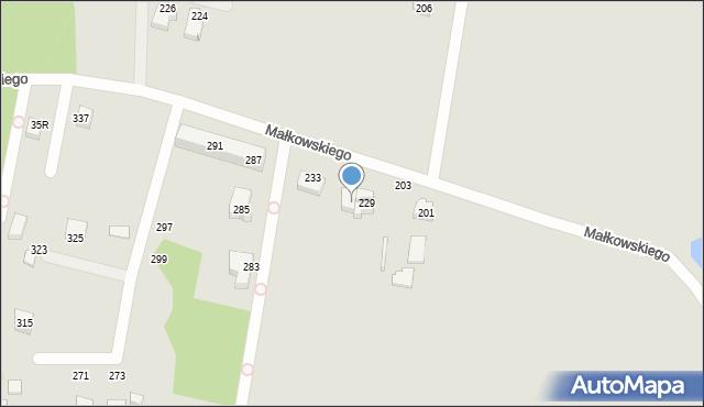 Gdynia, Małkowskiego Kazimierza, 231, mapa Gdyni