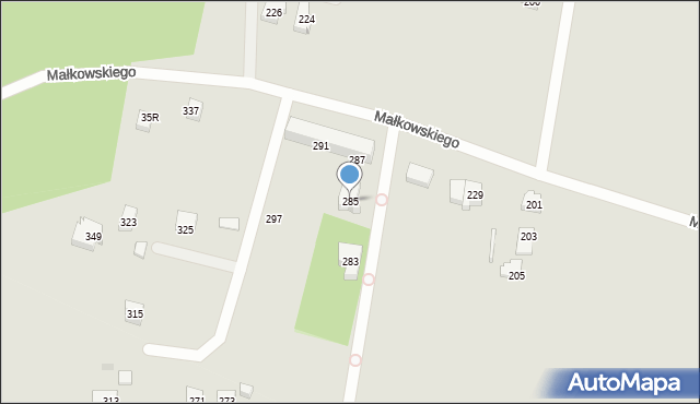 Gdynia, Małkowskiego Kazimierza, 285, mapa Gdyni