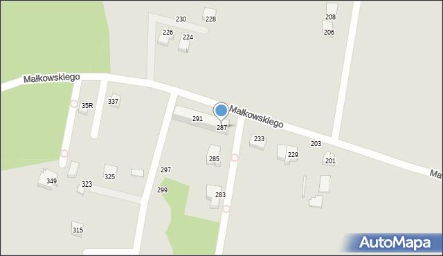 Gdynia, Małkowskiego Kazimierza, 287, mapa Gdyni
