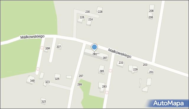 Gdynia, Małkowskiego Kazimierza, 291, mapa Gdyni