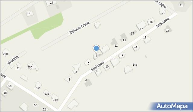 Grębocin, Makowa, 7, mapa Grębocin
