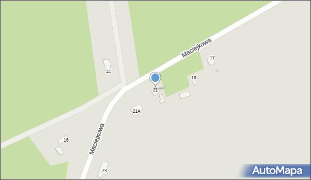 Grudziądz, Maciejkowa, 21, mapa Grudziądza