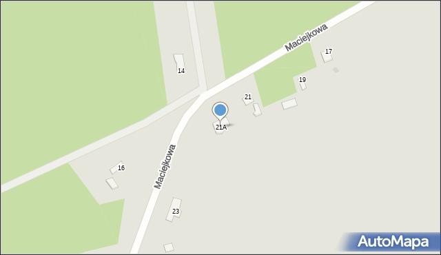 Grudziądz, Maciejkowa, 21A, mapa Grudziądza
