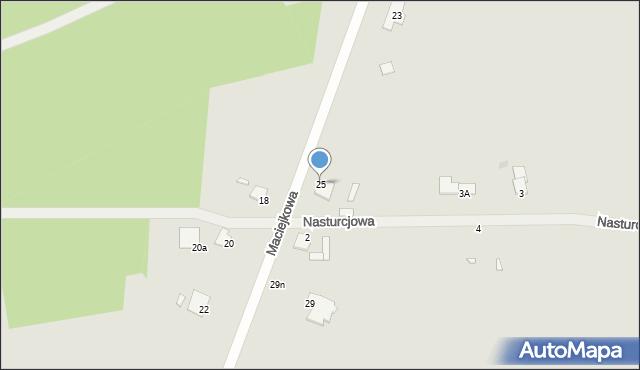Grudziądz, Maciejkowa, 25, mapa Grudziądza