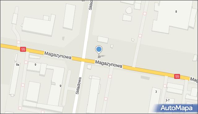 Grudziądz, Magazynowa, 10, mapa Grudziądza