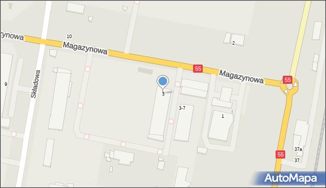 Grudziądz, Magazynowa, 3, mapa Grudziądza