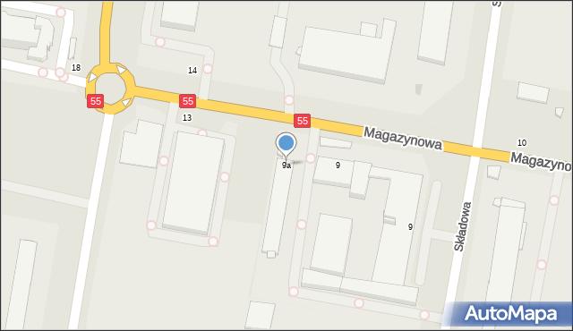 Grudziądz, Magazynowa, 9a, mapa Grudziądza