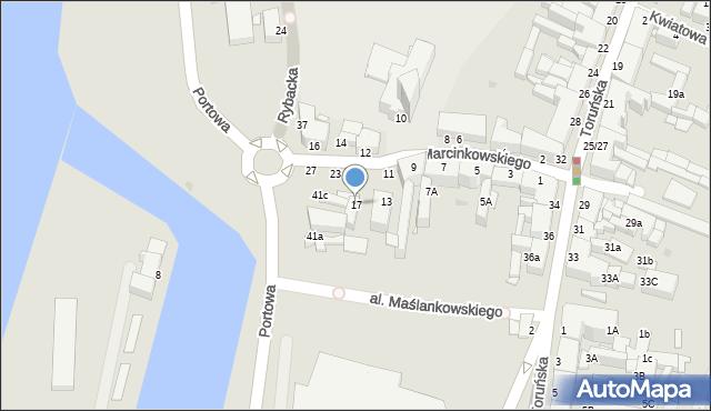 Grudziądz, Marcinkowskiego, 17, mapa Grudziądza