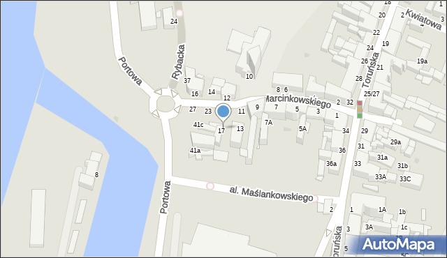 Grudziądz, Marcinkowskiego, 19, mapa Grudziądza