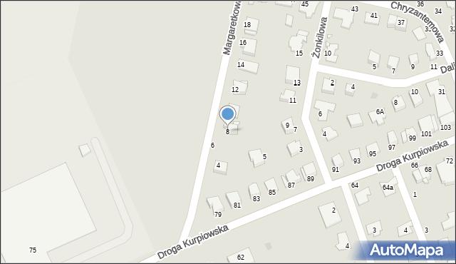 Grudziądz, Margaretkowa, 8, mapa Grudziądza