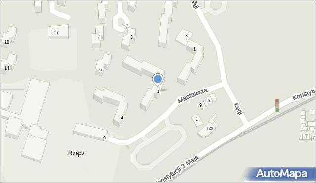 Grudziądz, Mastalerza Kazimierza, 2, mapa Grudziądza