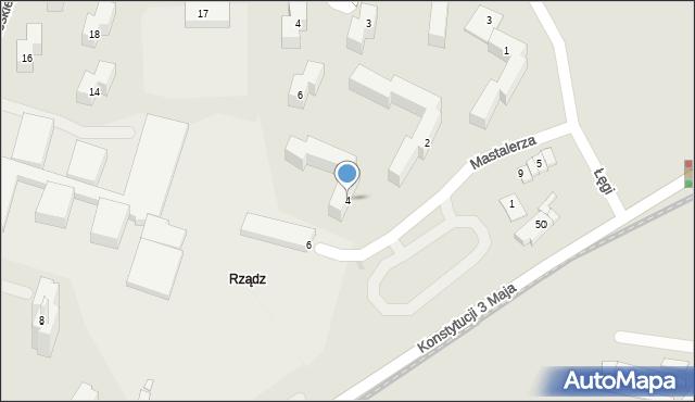 Grudziądz, Mastalerza Kazimierza, 4, mapa Grudziądza