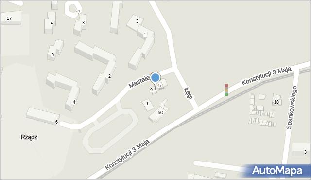 Grudziądz, Mastalerza Kazimierza, 7, mapa Grudziądza