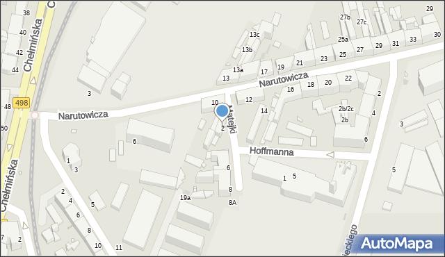 Grudziądz, Matejki Jana, 2, mapa Grudziądza