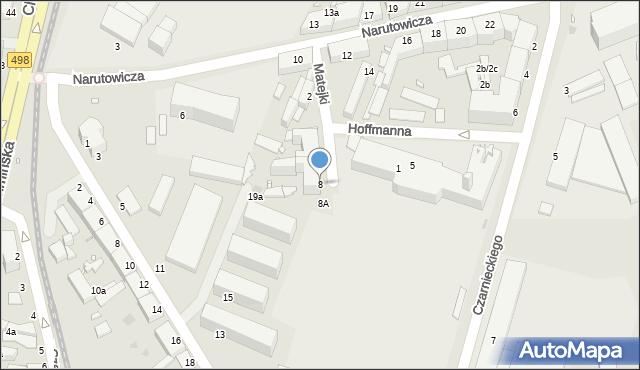 Grudziądz, Matejki Jana, 8, mapa Grudziądza
