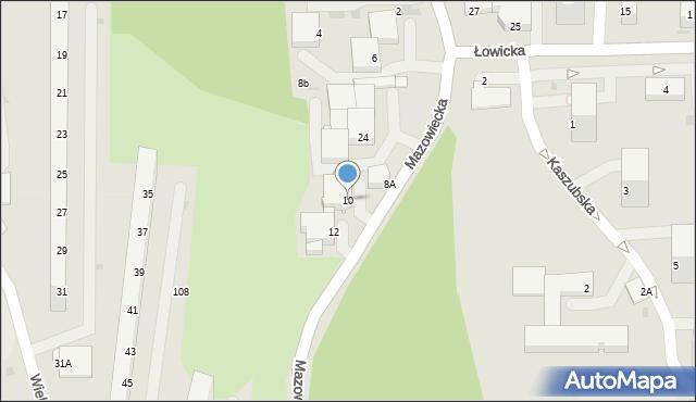 Jastrzębie-Zdrój, Mazowiecka, 10, mapa Jastrzębie-Zdrój