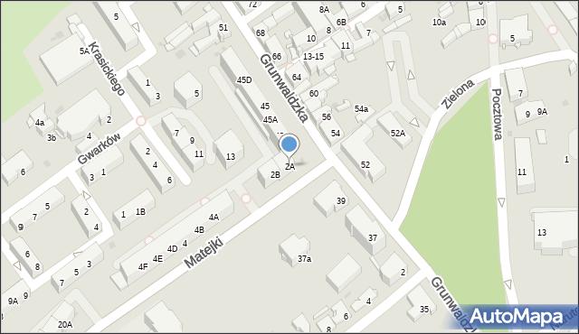 Jaworzno, Matejki Jana, 2A, mapa Jaworzno