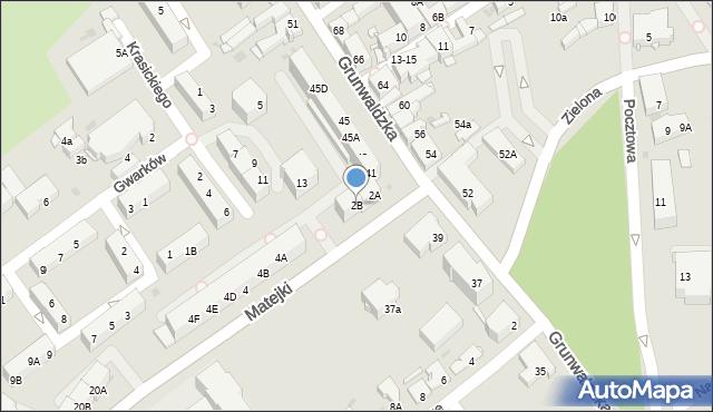 Jaworzno, Matejki Jana, 2B, mapa Jaworzno