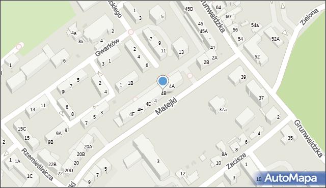 Jaworzno, Matejki Jana, 4B, mapa Jaworzno