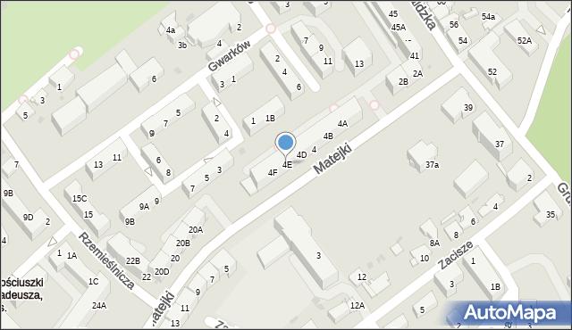 Jaworzno, Matejki Jana, 4E, mapa Jaworzno